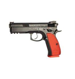 CZ CZ 75 Shadow Canada Semi-Auto Pistol, 9MM, black steeel frame, red alum grip, 10 rnd,