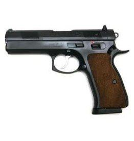 """CZ CZ  97 B Semi-Auto Pistol, 45 ACP, 4.5"""" Bbl, Black Steel Frame, Wood Grip, 10 Rnd, SA/DA, Luminiscent Sights, Manual Safety"""