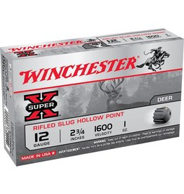 WINCHESTER Winchester  Super-X Rifled Slugs 12 GA, 2-3/4 in, 1 oz, 1600 fps, 5 Rnd per Box