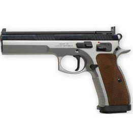 CZ CZ 75 TS Semi-Auto Pistol, 40 S&W, 5'' Bbl Steel Frame, Wood Grip, 10 Rnd, SA, Fixed Sights, Manual Safety