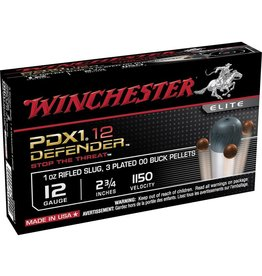WINCHESTER Winchester  Defender Shotshell 12 GA, 2-3/4 in, No. 00B 1 oz, 1150 fps, 10 Rnd per Box