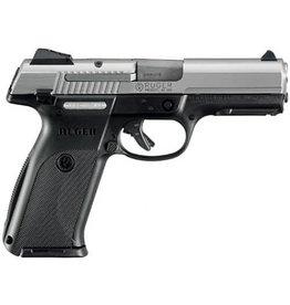 Ruger Ruger SR9 Standard Semi Auto Pistol 9MM, 4.14 in, Glass-Filled Nylon Grp, 10+1 Rnd, Adj 3-Dot, Compact Blk Frame