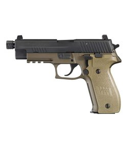 Sig Sauer Sig Sauer P226 Combat Semi Auto Pistol 9MM, 4.4 in, Poly Grp, 10+1 Rnd, Night, Full Sz FDE Frame, DA