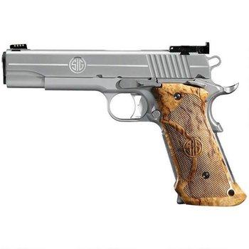 Sig Sauer Sig Sauer 1911 Super Target Semi Auto Pistol 45 ACP, 5 in, Wood Grp, 8+1 Rnd, Full Sz Frame, Skeletonized Trgr