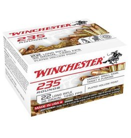 WINCHESTER Winchester  .22lr Rimfire Ammo 22 LR, CPHP, 36 Grains, 1280 fps 235 Rounds, Boxed
