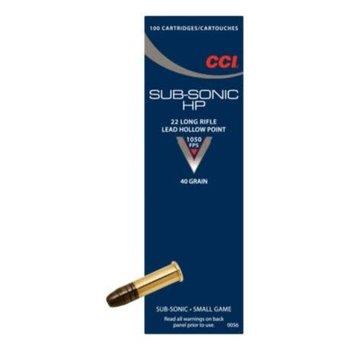 CCI CCI Subsonic .22 lr HP Rimfire Ammo