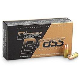 CCI CCI 9mm Blazer Brass Centerfire Pistol Ammo FMJ Blazer 9 mm 124GR 50rd/box