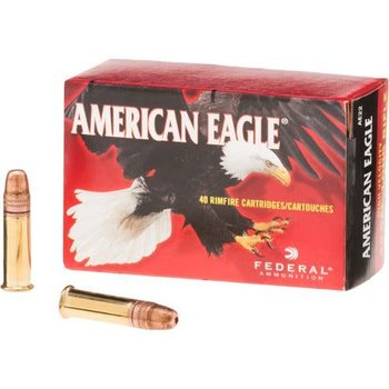 Federal Federal AE .22lr American Eagle Rimfire Rifle Ammo 22 LR, Copper Plated HP 38 Grains, 1260 fps, 40 Rounds, Boxed single