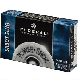 Federal Federal  Power-Shok Sabot Slugs 12 GA, 2-3/4 in, 1 oz, 1500 fps, 5 Rnd per Box
