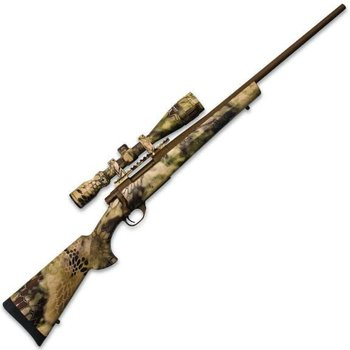 HOWA LEGACY Howa Hogue 270win Bolt Action Rifle 270 WIN, RH, 22 in Austrian Brown Cerakote, Syn Stk, 5+1 Rnd, Two Stage Trgr