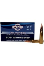 PPU PPU Rifle 308 win Ammo,FMJBT,20rd/Box 308Win145Gr single