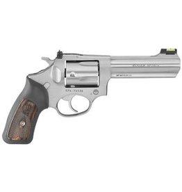 Ruger Ruger  SP101 Revolver 357 MAG 4.2 in, Rubber Engraved Wood Grp, 5 Rnd, Std Satin Stainless Frame, Combat Trgr