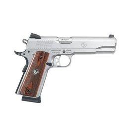 Ruger Ruger  SR1911 Standard Semi Auto Pistol 45 ACP, 5 in, Stainless Steel Grp, 8+1 Rnd, S/S Frame, Skeletonized Trgr