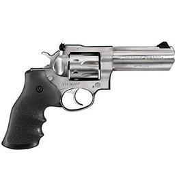 Ruger Ruger  GP100 Std Revolver 357 MAG, 6 in, Rubber MoNogrip, 6 Rnd Medium Satin Stainless Frame, Combat Trgr