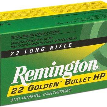 Remington Remington  Golden Bullet High Velocity Rifle Ammo 22 LR, PHP, 36 Grains, 1280 fps, 525 Rounds, Boxed