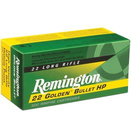 Remington Remington  .22lr Golden Bullet Rifle Ammo 22 LR, PLRN, 40 Grains, 1255 fps, 100 Rounds, Boxed