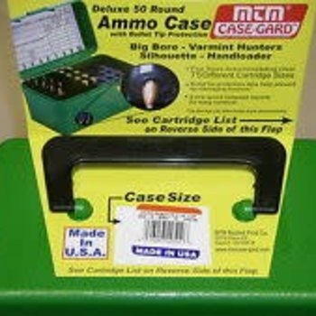 Delex 50rd ammo case with Bullet tip protection,bigbore and varmint hunters H50-r-MAG-10