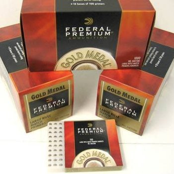 Federal Fed Gold Medal Small Pistol Match Prime  GM100M 1000ct