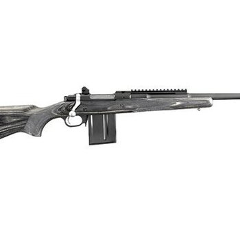 Ruger Ruger Gunsite Scout Bolt Action Rifle, 5.56 NATO, 16.1'' Barrel, 10+1 Round, Lwood Stock, Stainless Steel