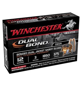 WINCHESTER Winchester SSDB123 Elite Dual Bond Sabot Slugs,5 rd/Box 12Ga 3In 55/64 oz 1850