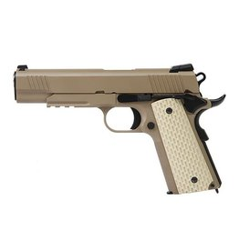 we Kimber 1911 type TAN with extended barrel and silencer