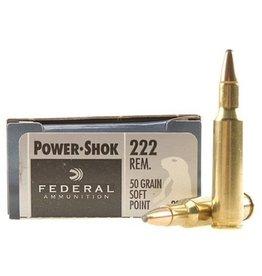 Federal Federal Power-Shok Ammunition 222 Remington 50 Grain Soft Point
