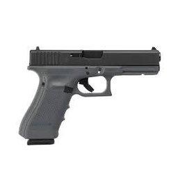 Glock Glock 17 Gen4 Semi-Auto Pistol, 9mm, Sniper Grey, Fixed Sights, 10 Rounds
