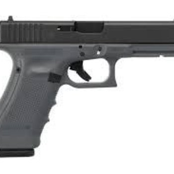 Glock Glock 17 Gen4 Semi-Auto Pistol, 9mm, Sniper Grey, Fixed Sights, 10 Rounds