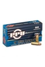 PPU Prvi Partizan PPU 9mm Luger Ammunition 50 Rounds 115 Grain FMJ