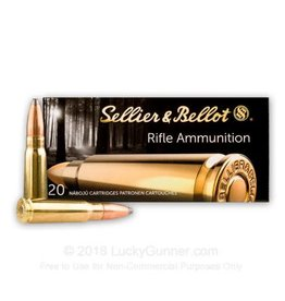 Sellier & Bellot SELLIER & BELLOT 7.62X39 FMJ TARGET AMMUNITION, 124 GRAIN BOX OF 20