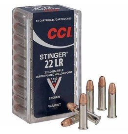 CCI CCI Rimfire, .22LR Stinger, HP, 32 Grain, 50 Rounds 1640 fps
