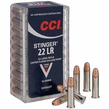CCI CCI Rimfire, .22LR Stinger, HP, 32 Grain, 50 Rounds 1640 fps