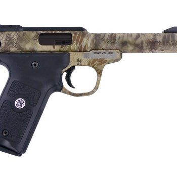 Smith & Wesson Smith & Wesson SW22 Victory Semi-Auto Pistol 22LR 5.5'' 10Rd Single Action  SW22  Kryptek Highlander