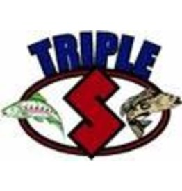 Triple S Warrior 4 3/4'''' ELITE BLUE/GREEN DOLPHIN UV GREEN & BLUE EDGES W/GREEN GLOW TAPE''
