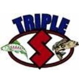 Triple S Warrior MAGNUM 4 3/4'''' SILVER ELITE UV SPOONS BLACK YELLOWTAIL''