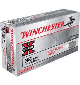 WINCHESTER Winchester Super-X Pistol Ammunition X38SWP, 38 S&W, Lead Round Nose (RN), 145 GR, 685 fps, 50 Rd/bx