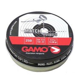 GAMO Gamo Match Flat Nose Lead .22 Pellets 250 Count Tin