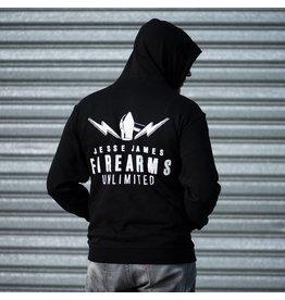 JJFU JJFU LOGO XXL size Hoody Black Jess James Firearm Unlimited XXL