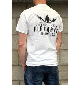 JJFU JJFU white TEE L Jess James Firearm Unlimited L