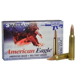 Federal Federal  American Eagle 223 rem BULK 500/box Lake CIty MSR Ammo 223 REM/5.56 NATO FMJ-BT, 55 Grains, 3240 fps,