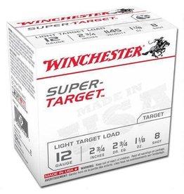 WINCHESTER Winchester TRGT128 Super-Target Trap Load 12 GA, 2-3/4'',  1-1/8 oz, 2-3/4 dr, 25 Rnds, in box single