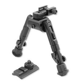 Leapers UTG Heavy Duty Recon 360 Bipod 5.59'' to 7.0'' Picatinny/Swivel Stud Mount Aluminum Matte Black TL-BP02
