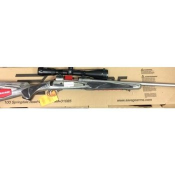 Savage Savage 308 win 16BCSS All Weather Classic Bolt Action Rifle, 308 Win, 22? Stainless Barrel, Laminated Stock with Bushnell Elite 4500 2.5-10×40 Scope, 19441