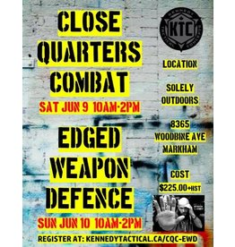 June 9-10 CQC/Edged Weapon S&G