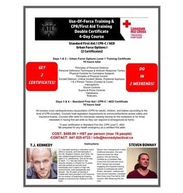 July 21-22 Use of Force & First Aid Part 1 July 28-29  Use of Force & First Aid Part 2
