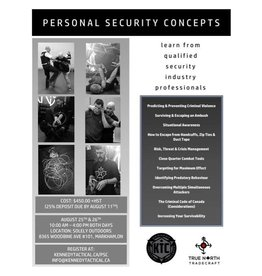 August 25-26 Personal Security Concepts