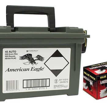 Federal Federal American Eagle 45 ACP Auto 230gr 300 rd with ammo box