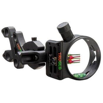 TRUGLO TRUGLO Storm Bow Sight 5 Pin with Light Aluminum Black TG3015B