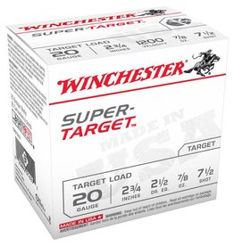 "WINCHESTER Winchester Super Target 20 Gauge #7.5 Lead Shot 2-3/4"" 7/8 Oz / BOX"