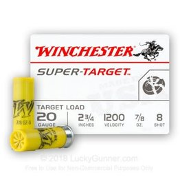 WINCHESTER Winchester super-target 20ga, 2-3/4 , 7/8oz,  #8 / 25 Rounds
